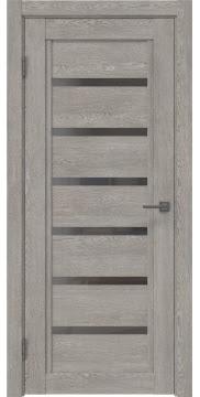 Межкомнатная дверь RM015 (экошпон «дымчатый дуб» / стекло графит) — 0196