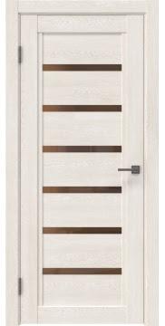 Межкомнатная дверь RM015 (экошпон «белый дуб» / стекло бронзовое) — 0186