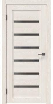 Межкомнатная дверь RM015 (экошпон «белый дуб» / стекло графит) — 0187