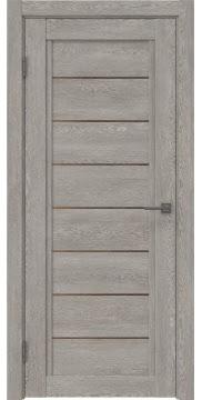 Межкомнатная дверь RM016 (экошпон «дымчатый дуб» / стекло бронзовое) — 0210