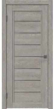 Межкомнатная дверь RM016 (экошпон «дымчатый дуб» / стекло графит) — 0211
