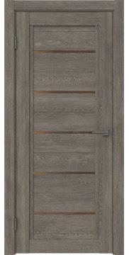 Межкомнатная дверь RM017 (экошпон «серый дуб» / стекло бронзовое) — 0228
