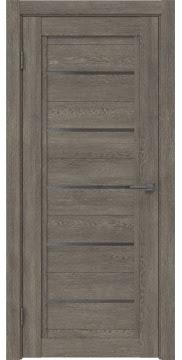 Межкомнатная дверь RM017 (экошпон «серый дуб» / стекло графит) — 0229