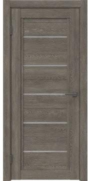 Межкомнатная дверь RM017 (экошпон «серый дуб» / лакобель белый) — 0226