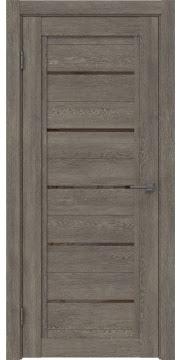 Межкомнатная дверь RM017 (экошпон «серый дуб» / лакобель коричневый) — 0230