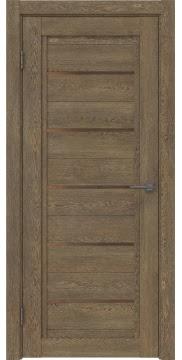 Межкомнатная дверь RM017 (экошпон «дуб антик» / стекло бронзовое) — 0214