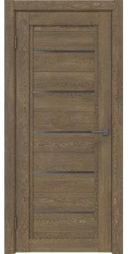 Межкомнатная дверь RM017 (экошпон «дуб антик» / стекло графит) — 0215