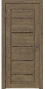 Межкомнатная дверь, RM017 (экошпон дуб антик, лакобель коричневый)