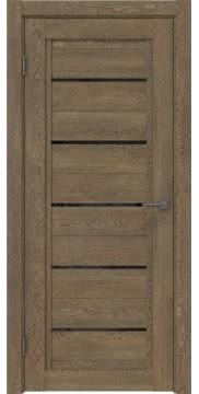 Межкомнатная дверь RM017 (экошпон «дуб антик» / лакобель черный) — 1019