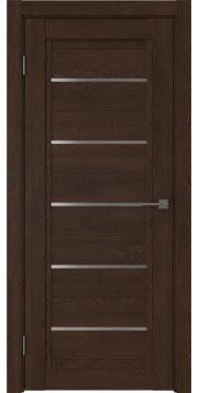 Межкомнатная дверь RM017 (экошпон «дуб шоколад» / матовое стекло) — 0234