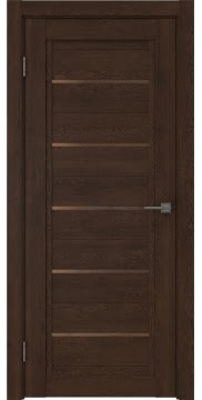 Межкомнатная дверь RM017 (экошпон «дуб шоколад» / стекло бронзовое) — 0235