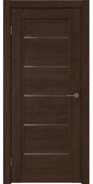 Межкомнатная дверь RM017 (экошпон «дуб шоколад» / стекло графит) — 0236