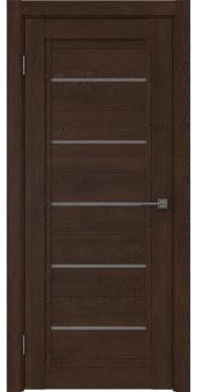 Межкомнатная дверь RM017 (экошпон «дуб шоколад» / лакобель серый) — 1024