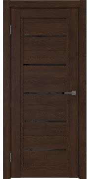 Межкомнатная дверь, RM017 (экошпон дуб шоколад, лакобель черный)