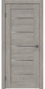 Межкомнатная дверь RM017 (экошпон «дымчатый дуб» / матовое стекло) — 0241