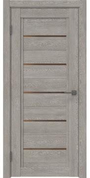Межкомнатная дверь RM017 (экошпон «дымчатый дуб» / стекло бронзовое) — 0242