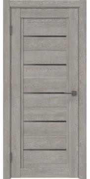 Межкомнатная дверь RM017 (экошпон «дымчатый дуб» / стекло графит) — 0243