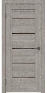 Межкомнатная дверь RM017 (экошпон «дымчатый дуб» / лакобель коричневый) — 1026