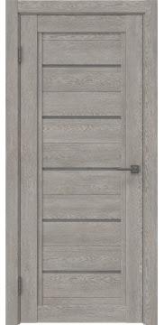 Межкомнатная дверь RM017 (экошпон «дымчатый дуб» / лакобель серый) — 0245