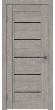Межкомнатная дверь RM017 (экошпон «дымчатый дуб» / лакобель черный) — 1027