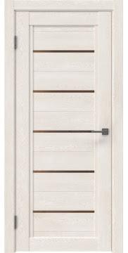 Межкомнатная дверь RM017 (экошпон «белый дуб» / стекло бронзовое) — 0221