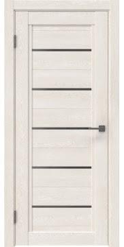 Межкомнатная дверь RM017 (экошпон «белый дуб» / стекло графит) — 0222