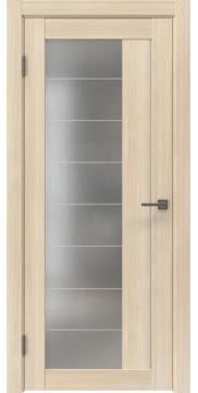 Межкомнатная дверь, RM018 (экошпон капучино мелинга, матовое стекло)