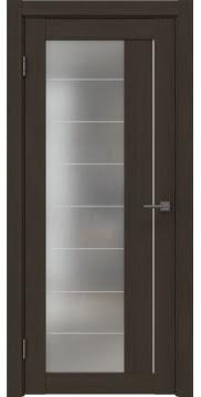 Межкомнатная дверь, RM018 (экошпон мокко, матовое стекло)