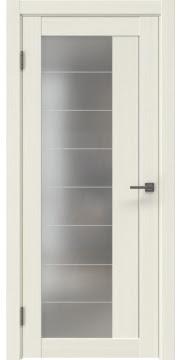 Межкомнатная дверь RM018 (экошпон «эш вайт мелинга» / матовое стекло) — 0769