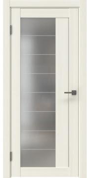 Межкомнатная дверь RM018 (экошпон «сандал белый» / матовое стекло) — 1008
