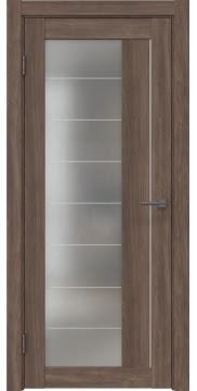 Межкомнатная дверь RM018 (экошпон «античный орех» / матовое стекло) — 1009