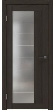 Межкомнатная дверь, RM018 (экошпон венге мелинга, матовое стекло)
