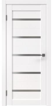 Межкомнатная дверь RM020 (экошпон белый / матовое стекло)