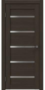 Межкомнатная дверь, RM020 (экошпон мокко, матовое стекло)