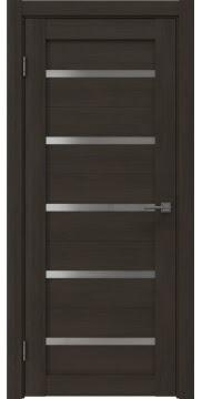 Межкомнатная дверь, RM020 (экошпон венге мелинга, матовое стекло)