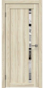 Межкомнатная дверь RM022 (экошпон «клен экрю» / зеркало) — 0564