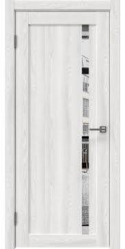 Межкомнатная дверь, RM022 (экошпон ясень айс, зеркало)