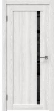 Межкомнатная дверь, RM022 (экошпон ясень айс, лакобель черный)