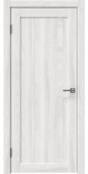 Межкомнатная дверь, RM022 (экошпон ясень айс, лакобель белый)