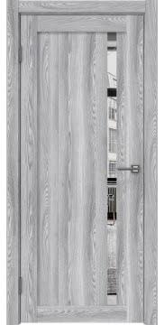 Межкомнатная дверь, RM022 (экошпон ясень грей, зеркало)