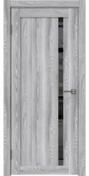 Межкомнатная дверь, RM022 (экошпон ясень грей, зеркало тонированное)