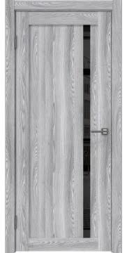 Межкомнатная дверь, RM022 (экошпон ясень грей, лакобель черный)
