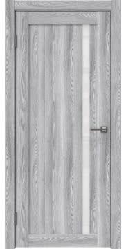 Межкомнатная дверь, RM022 (экошпон ясень грей, лакобель белый)