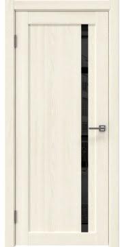 Межкомнатная дверь RM022 (экошпон «ясень крем» / лакобель черный) — 0583