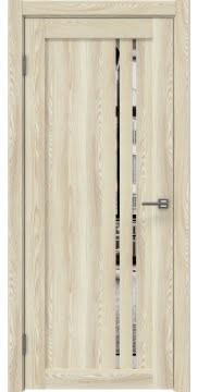 Межкомнатная дверь, RM023 (экошпон клен экрю, зеркало)