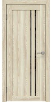 Межкомнатная дверь RM023 (экошпон «клен экрю» / лакобель черный) — 0628