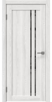 Межкомнатная дверь, RM023 (экошпон ясень айс, зеркало тонированное)