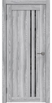 Межкомнатная дверь, RM023 (экошпон ясень грей, лакобель черный)
