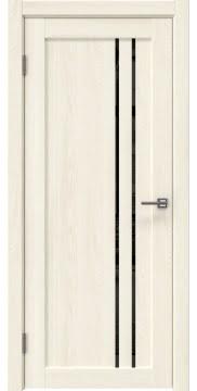 Межкомнатная дверь, RM023 (экошпон ясень крем, лакобель черный)