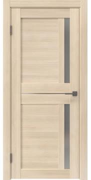 Межкомнатная дверь, RM024 (экошпон капучино мелинга, матовое стекло)